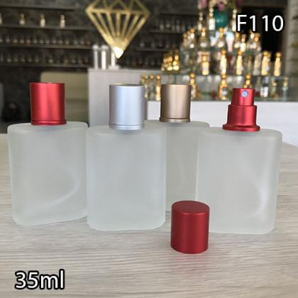 Флакон Парфюмерный для разливных духов f110-35ml. Флакон стеклянный с замутненной поверхнастью.