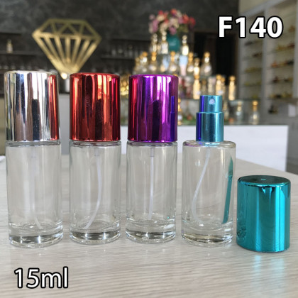 Флакон Парфюмерный для разливных духов f140-15ml Парфюмерный стеклянный флакон