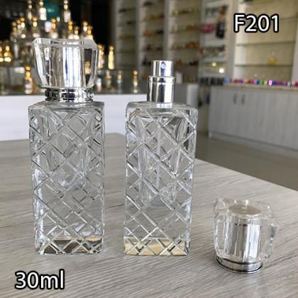 Флакон Парфюмерный для разливных духов f201-30ml. Флакон стеклянный с декором.