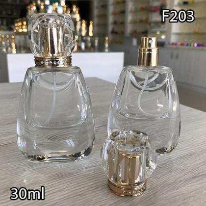 Флакон Парфюмерный для разливных духов f203-30ml. Флакон стеклянный с декором.