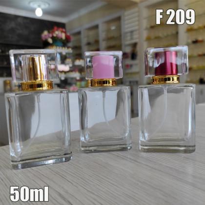 Флакон Парфюмерный для разливных духов f209-50ml. Флакон стеклянный с декором.