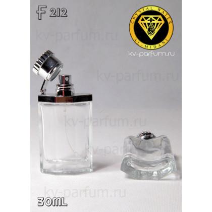 Флакон Парфюмерный для разливных духов f212-30ml. Флакон стеклянный с декором.