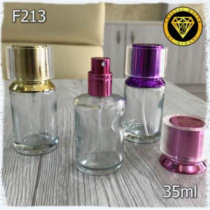 Флакон Парфюмерный для разливных духов F213-35ml Флакон стеклянный с распылителем