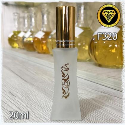 Флакон Парфюмерный для разливных духов f320-20ml Флакон спрей стеклянный мутный с декором