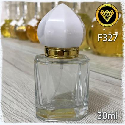 Флакон Парфюмерный для разливных духов f327-30ml Флакон стеклянный с декором