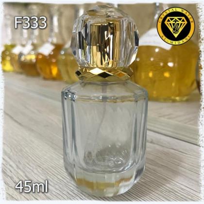 Флакон Парфюмерный для разливных духов f333-45ml. Флакон стеклянный с узором