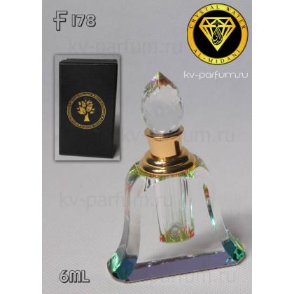 Флакон Масляный для разливных духов f178-6ml. Флакон хрустальный.
