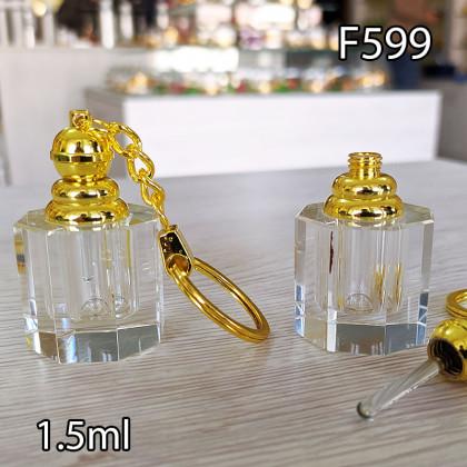 Флакон Масляный для разливных духов f599-1.5ml с кисточкой