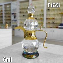 Флакон Масляный для разливных духов f623-6ml Хрустальные с кисточкой