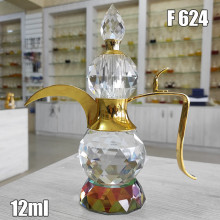 Флакон Масляный для разливных духов f624-12ml Хрустальные с кисточкой