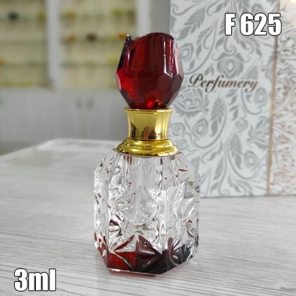 Флакон Масляный для разливных духов f625-3ml Хрустальные с кисточкой