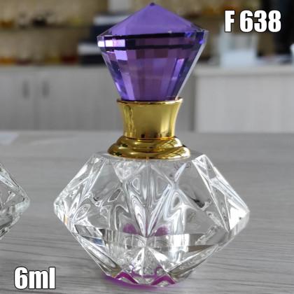 Флакон Масляный для разливных духов f638-6ml Хрустальные с кисточкой