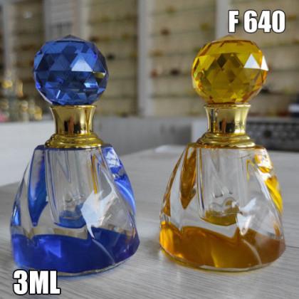 Флакон Масляный для разливных духов f640-6ml Хрустальные с кисточкой