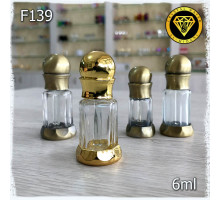 F139-6ml Флакон железный со стеклом