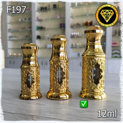 Флакон Масляный для разливных духов f197-12ml. Флакон Железный с декором.