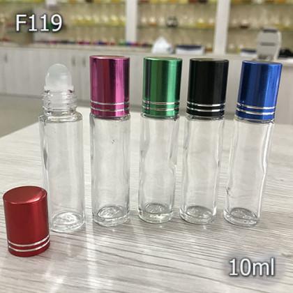 Флакон Масляный для разливных духов f119-10ml. Флакон стеклянный шариковый