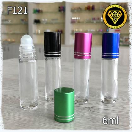 Флакон Масляный для разливных духов f121-6ml Флакон стеклянный шариковый
