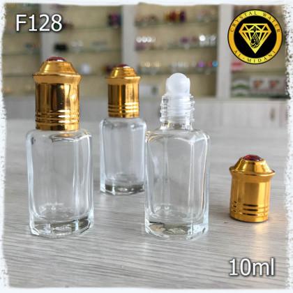 Флакон Масляный для разливных духов F128-10ml Флакон стеклянный с шариком
