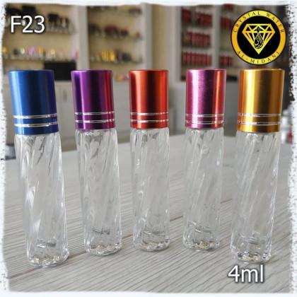 Флакон Масляный для разливных духов f23-4ml. Флакон стеклянный шариковый.