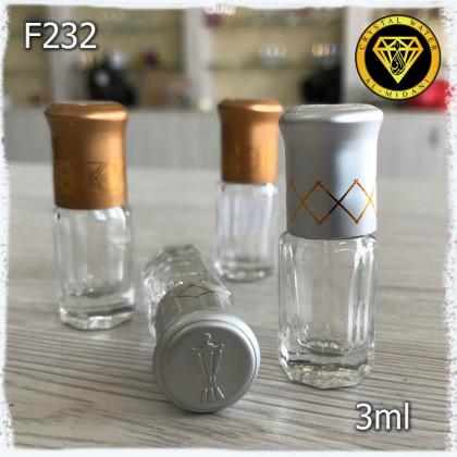 Флакон Масляный для разливных духов f232-3ml. Флакон стеклянный шариковый