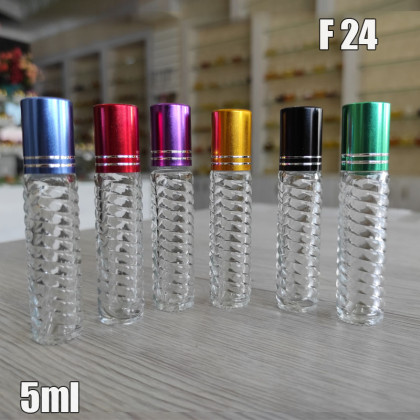 Флакон Масляный для разливных духов f24-5ml. Стеклянный флакон с шариком