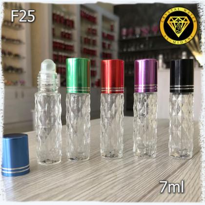 Флакон Масляный для разливных духов f25-7ml Флакон стеклянный с декорированным узором в виде ромбиков