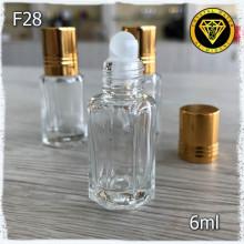 Флакон Масляный для разливных духов f28-6ml Флаконы стеклянные шариковые
