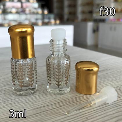Флакон Масляный для разливных духов f30-3ml Флакон стеклянный с кисточкой