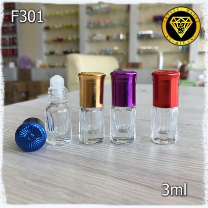 Флакон Масляный для разливных духов F301-3ml Флакон стеклянный шариковый