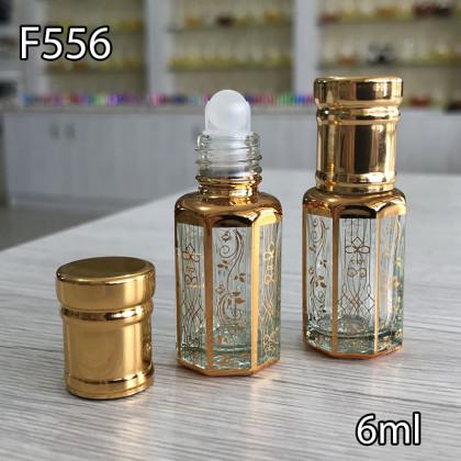 Флакон Масляный для разливных духов f556-6ml Шариковый стекло