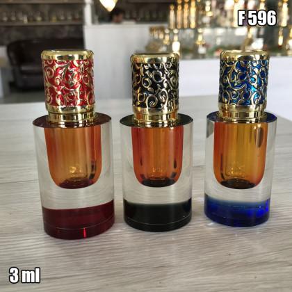 Флакон Масляный для разливных духов f596-3ml Флакон с кисточкой