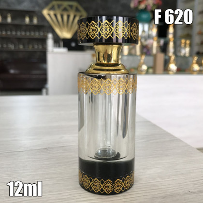 Флакон Масляный для разливных духов f620-12ml Стеклянный флакон с палочкой