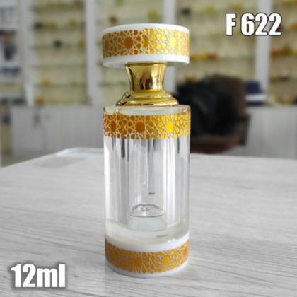 Флакон Масляный для разливных духов f622-12ml Хрустальные с кисточкой