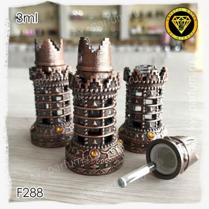 Флакон Масляный для разливных духов F288-3ml Флакон с кисточкой. Железный.
