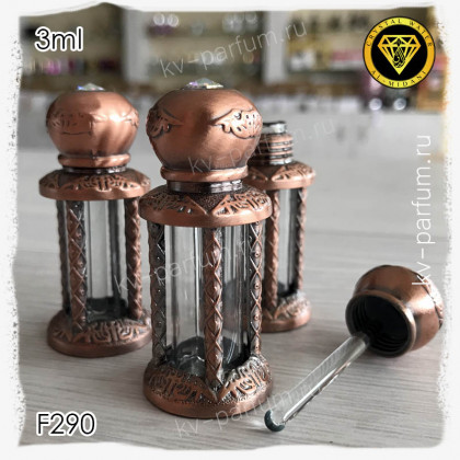 Флакон Масляный для разливных духов F290-3ml Флакон с кисточкой. Железный.