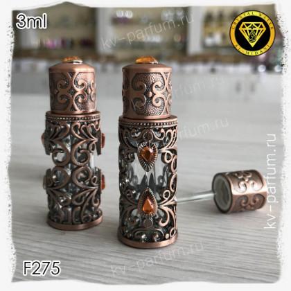 Флакон Масляный для разливных духов F275-3ml Флакон с кисточкой. Железный.