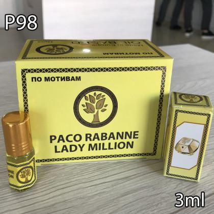 Наша продукция для разливных духов P98-3ml по мотивам Paco Rabanne Lady Million